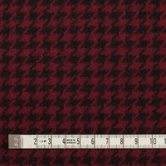 ウール&コットン×チェック(ガーネット&ブラック)×千鳥格子 サムネイル4