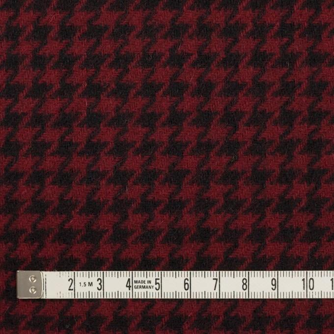 ウール&コットン×チェック(ガーネット&ブラック)×千鳥格子 イメージ4