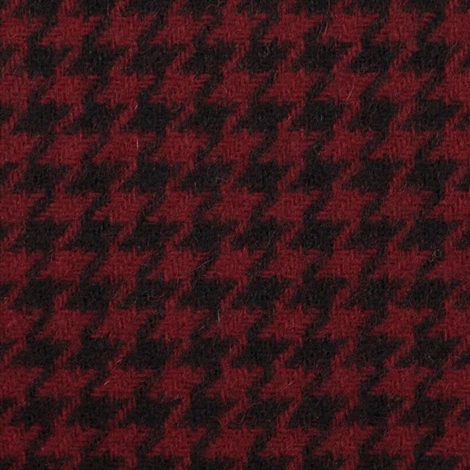 ウール&コットン×チェック(ガーネット&ブラック)×千鳥格子 イメージ1