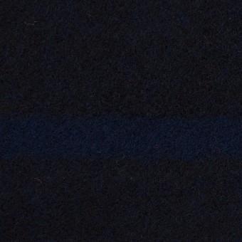 ウール×ボーダー(ネイビー&ブラック)×ツイード_パネル