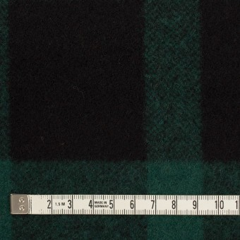 ウール×チェック(クロムグリーン&ブラック)×ツイード_全2色 サムネイル4
