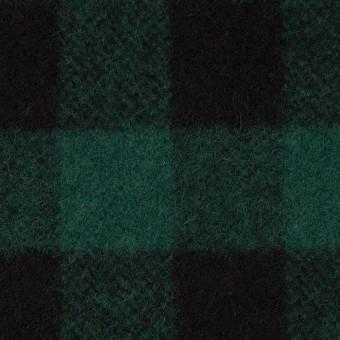 ウール×チェック(クロムグリーン&ブラック)×ツイード_全2色