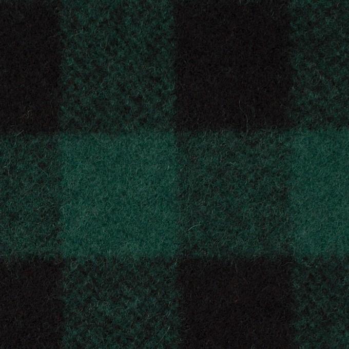 ウール×チェック(クロムグリーン&ブラック)×ツイード_全2色 イメージ1