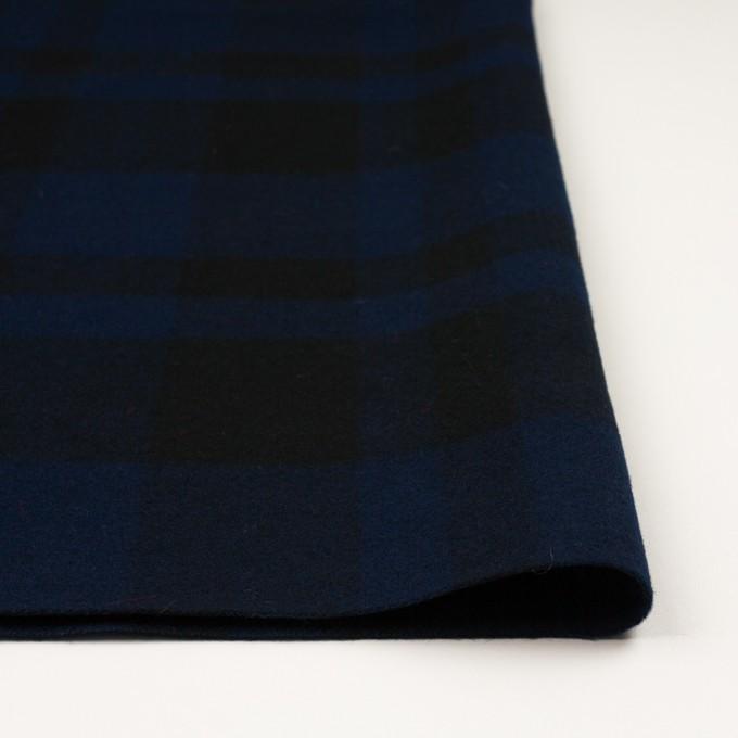 ウール×チェック(ネイビー&ブラック)×ツイード_全2色 イメージ3