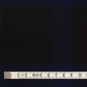 ウール×チェック(ネイビー&ブラック)×ツイード_全2色 サムネイル4