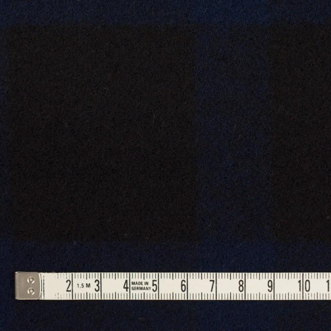 ウール×チェック(ネイビー&ブラック)×ツイード_全2色 イメージ4