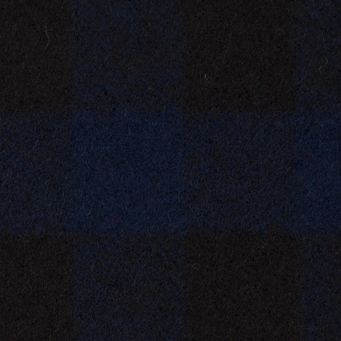 ウール×チェック(ネイビー&ブラック)×ツイード_全2色 イメージ1