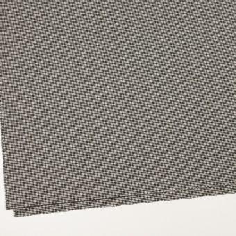 ウール&ポリウレタン×チェック(ブラック)×千鳥格子ストレッチ サムネイル2