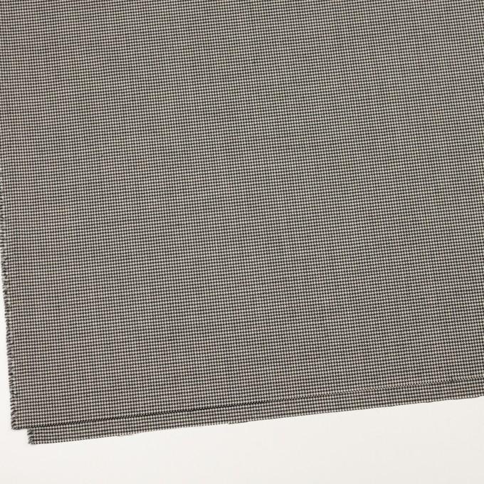 ウール&ポリウレタン×チェック(ブラック)×千鳥格子ストレッチ イメージ2