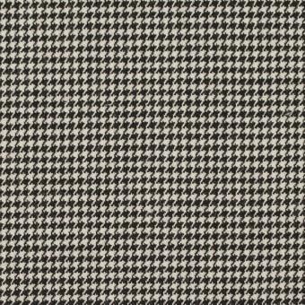 ウール&ポリウレタン×チェック(ブラック)×千鳥格子ストレッチ サムネイル1