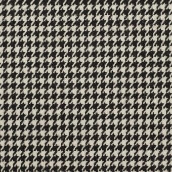 ウール×チェック(ブラック)×千鳥格子