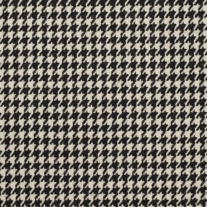 ウール×チェック(ブラック)×千鳥格子 イメージ1