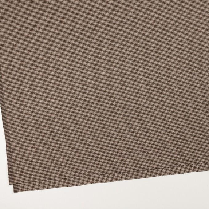 ウール&ポリウレタン×チェック(モカ)×千鳥格子ストレッチ イメージ2
