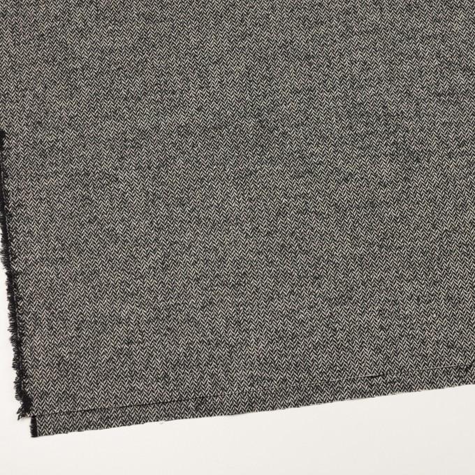 ウール&ナイロン×ミックス(ブラック)×ヘリンボーン_全2色 イメージ2
