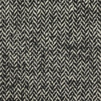 ウール&ナイロン×ミックス(ブラック)×ヘリンボーン_全2色