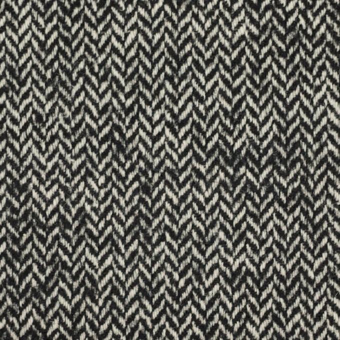 ウール&ナイロン×ミックス(ブラック)×ヘリンボーン_全2色 イメージ1