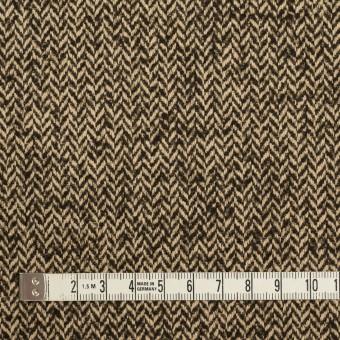 ウール&ナイロン×ミックス(ダークブラウン)×ヘリンボーン_全2色 サムネイル4