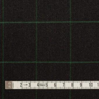 ポリエステル&レーヨン混×チェック(チャコール)×サージストレッチ サムネイル4
