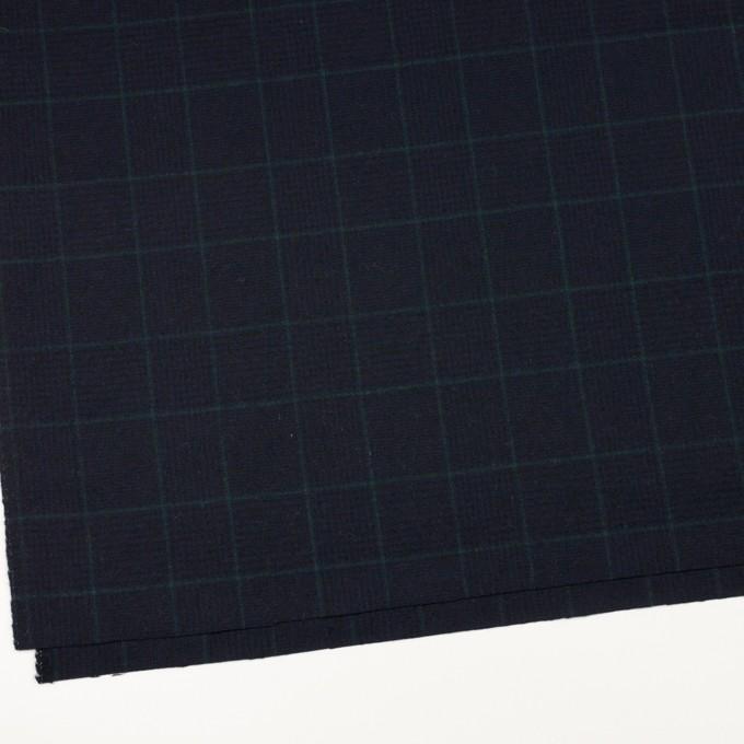 ウール×チェック(ネイビー&ダークネイビー)×サージ イメージ2