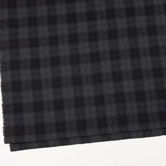 ウール×チェック(グレー&ブラック)×サージ サムネイル2