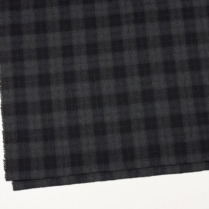 ウール×チェック(グレー&ブラック)×サージ イメージ2