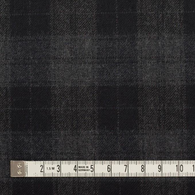 ウール×チェック(グレー&ブラック)×サージ イメージ4