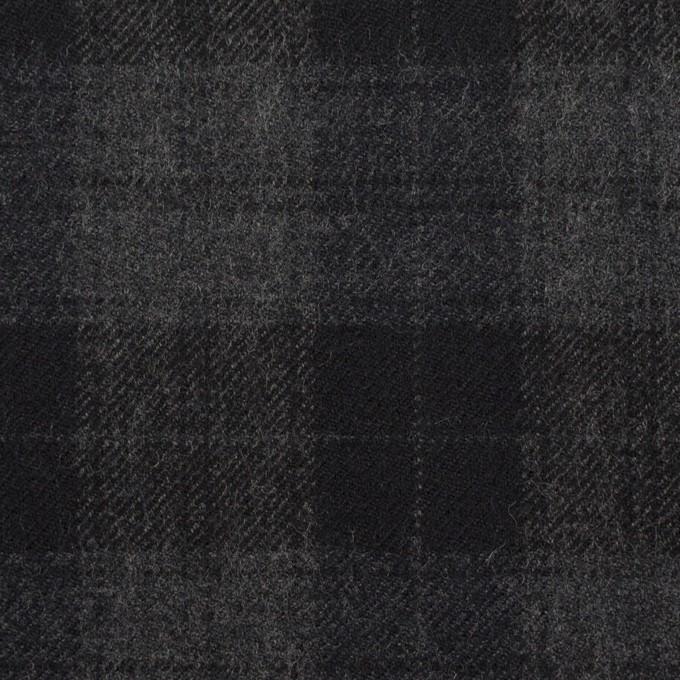 ウール×チェック(グレー&ブラック)×サージ イメージ1