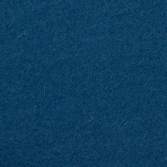 ウール&ナイロン×無地(インクブルー)×フラノ(フランネル)