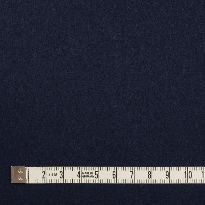 ウール&ナイロン×無地(ネイビー)×フラノ(フランネル) イメージ4
