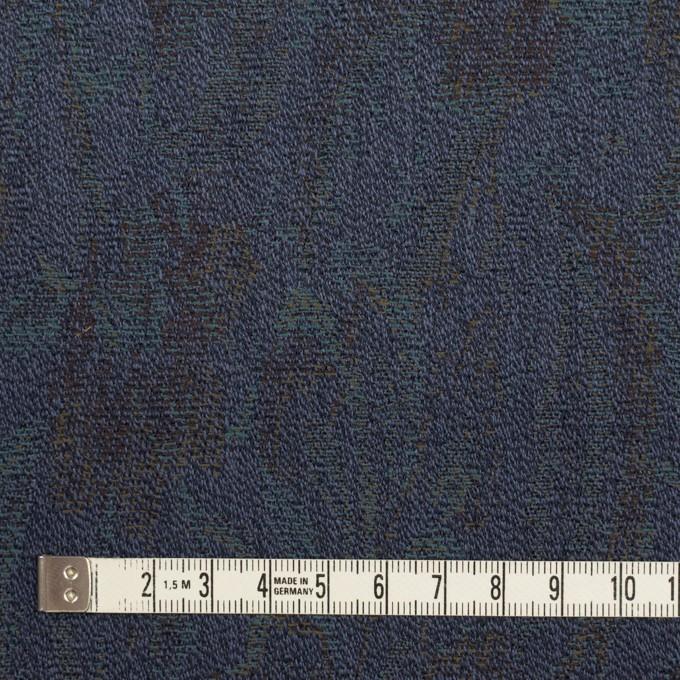 ウール×幾何学模様(ネイビー)×ジャガード_全3色 イメージ4