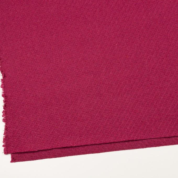 ウール&ナイロン×無地(ショッキングピンク)×かわり織_イタリア製 イメージ2