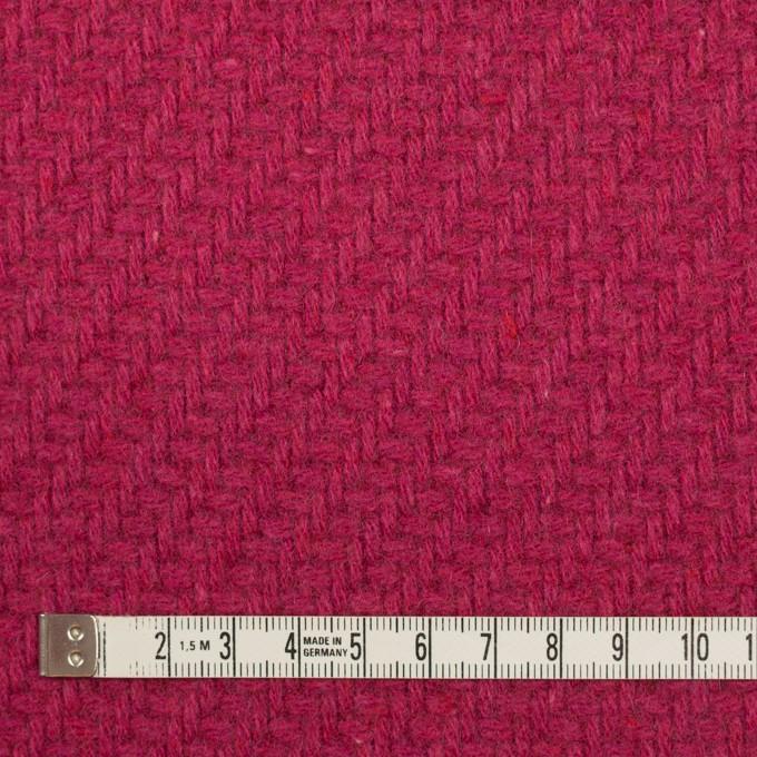 ウール&ナイロン×無地(ショッキングピンク)×かわり織_イタリア製 イメージ4