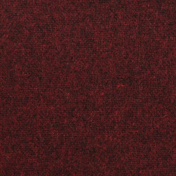 ウール×無地(ガーネット)×ツイード イメージ1