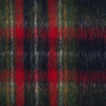 ウール×チェック(ダークネイビー、レッド&グリーン)×ビーバー サムネイル1