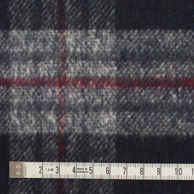 ウール×チェック(ダークネイビー&グレー)×ビーバー イメージ4