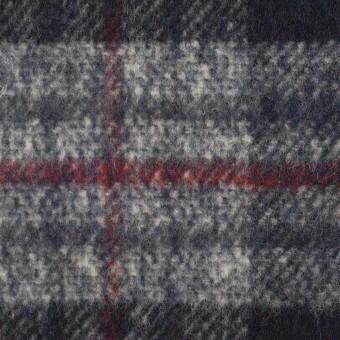 ウール×チェック(ダークネイビー&グレー)×ビーバー サムネイル1
