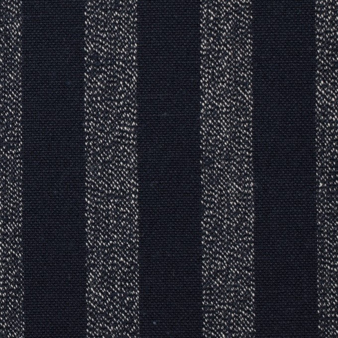 コットン×ストライプ(ダークネイビー)×ソフトキャンバス イメージ1