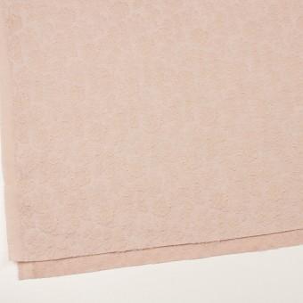 ポリエステル&ウール混×フラワー(ピンクベージュ)×ジャガード_全2色 サムネイル2