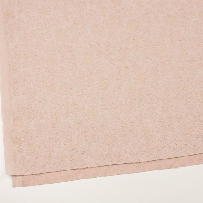 ポリエステル&ウール混×フラワー(ピンクベージュ)×ジャガード_全2色 イメージ2