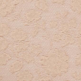 ポリエステル&ウール混×フラワー(ピンクベージュ)×ジャガード_全2色 サムネイル1