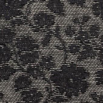 ポリエステル&ウール混×フラワー(ダークネイビー)×ジャガード_全2色 サムネイル1