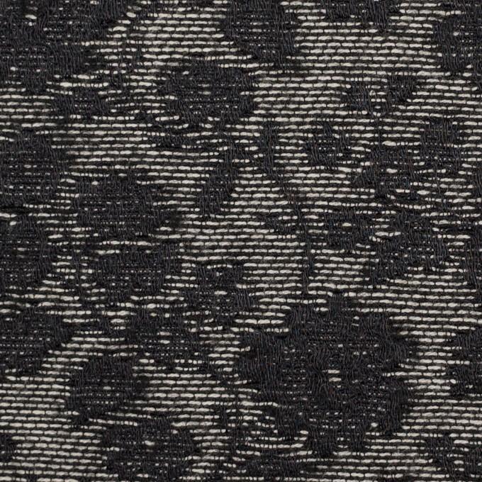 ポリエステル&ウール混×フラワー(ダークネイビー)×ジャガード_全2色 イメージ1