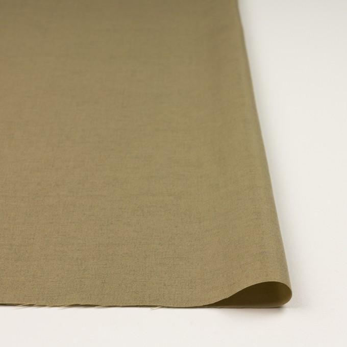 ウール&カシミア混×無地(カーキベージュ)×サージ_イタリア製 イメージ3