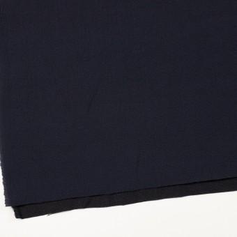 ウール&シルク混×無地(ネイビー)×二重織 サムネイル2
