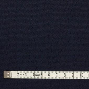 ウール&シルク混×無地(ネイビー)×二重織 サムネイル4