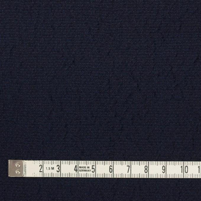 ウール&シルク混×無地(ネイビー)×二重織 イメージ4
