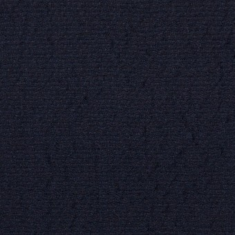 ウール&シルク混×無地(ネイビー)×二重織
