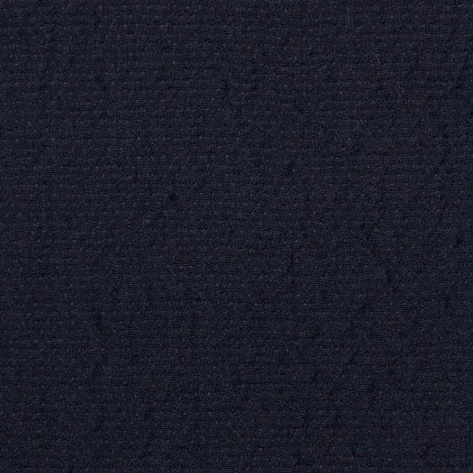 ウール&シルク混×無地(ネイビー)×二重織 イメージ1