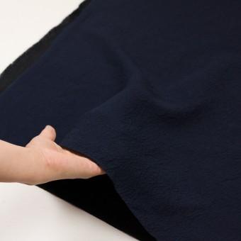 ウール&シルク混×無地(ネイビー)×二重織 サムネイル6
