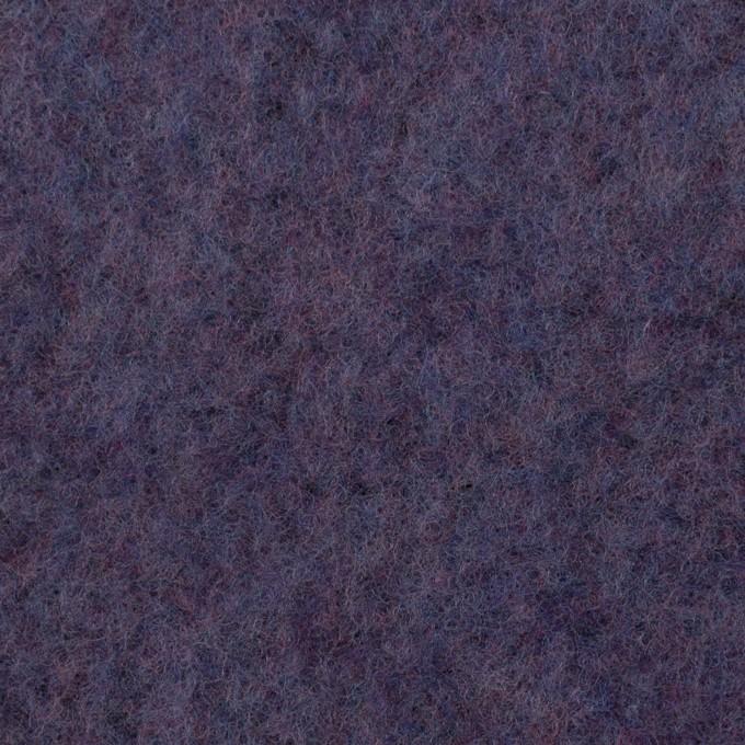 ポリエステル&ウール混×無地(アメジスト)×フリースニット イメージ1
